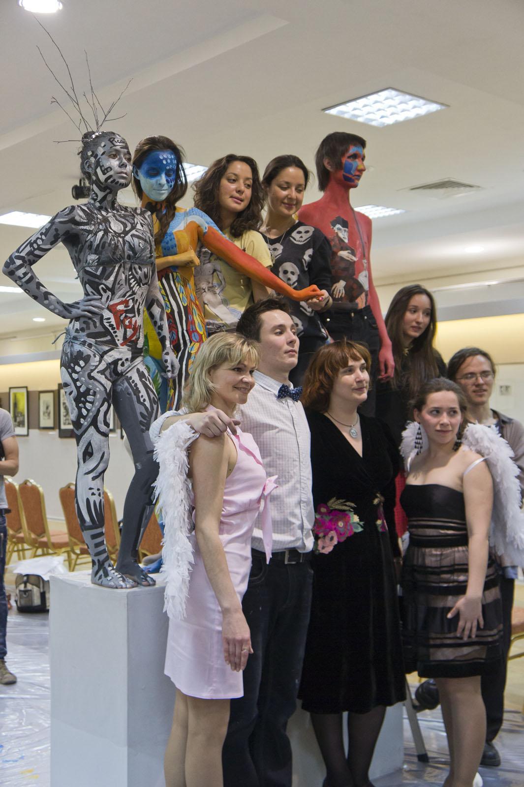 Фото №78154. Модели, мастера, ангелы-вдохновители и хозяйка Манежа «Body-Art Battle»