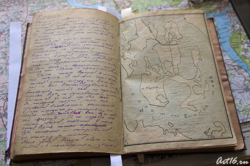 Фото №78215. Запись из фронтового дневника В.Попова
