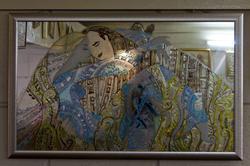Роспись на зеркале. Анастасия Бузунеева