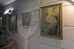 Фрагмент экспозиции выставки Анастасии Бузунеевой