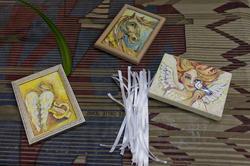 Миниатюры А.Бузунеевой и ленточки, для закрепления желаний на дереве Желаний