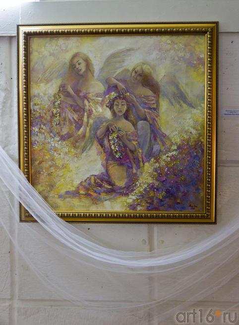 Веночек для Ангела.  Анастасия Бузунеева (Анастас)::Анастасия Бузунеева: «Как ангелы», живопись