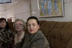 В.Братышева,  Т.Козлова, Т.Забегина на открытии выставки