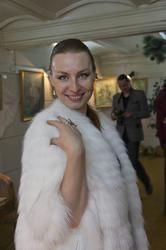 Анастасия Бузунеева на открытии выставки