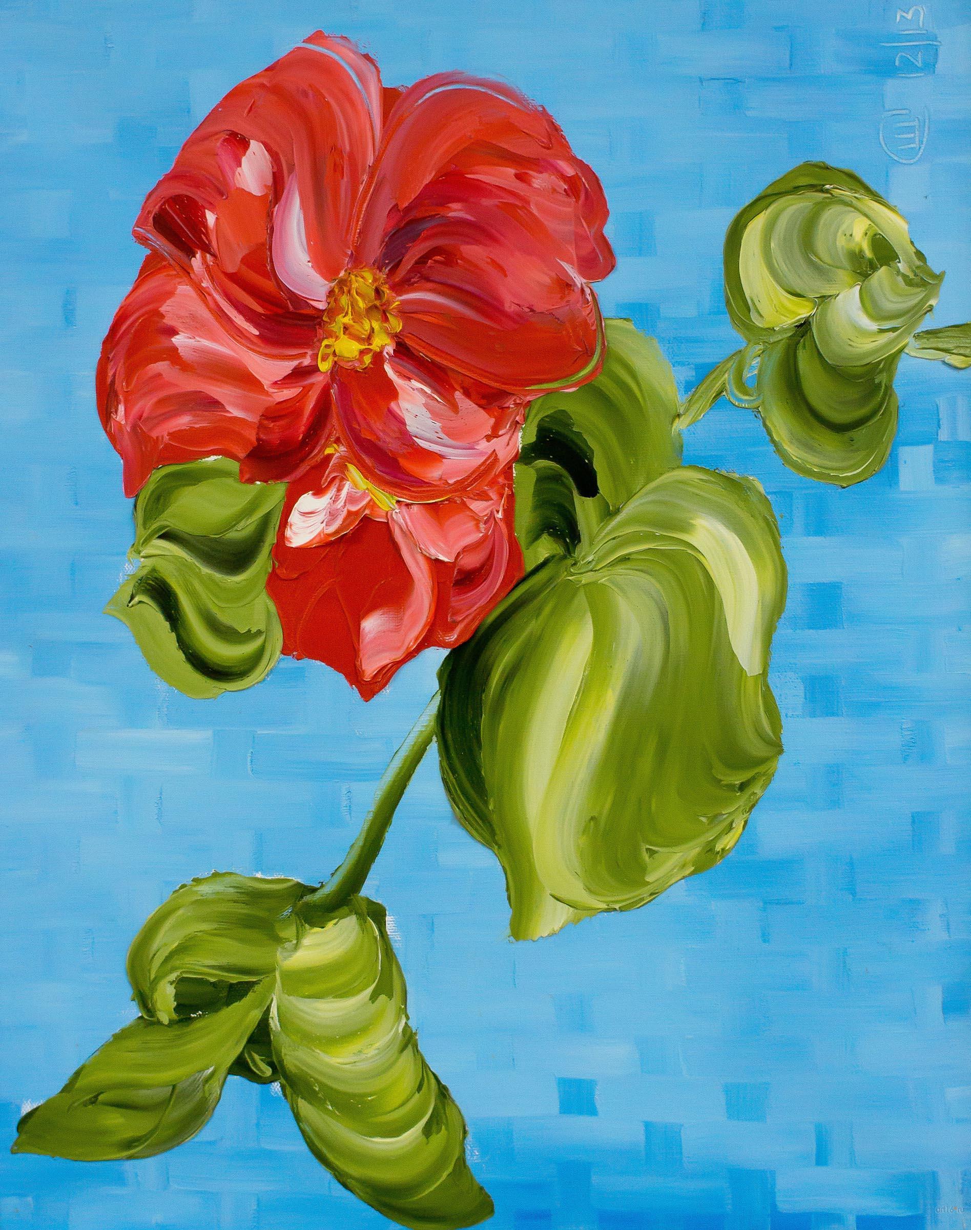 «Красный цветок смятений ты подарила мне... (А. Шох)». Светлана Шавалеева::4-я Выставка достижений «Художников выходного дня Республики Татарстан»