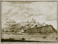 Вид города Свияжска при водополии к полудню. Рудаков А.Г.(1748-после 1904)