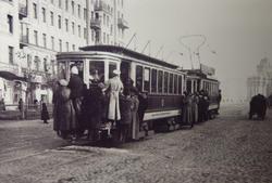 Трамвай у Красных ворот, 1910-е гг.