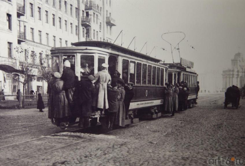 Фото №79924. Трамвай у Красных ворот, 1910-е гг.