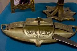 Чернильница, нач. XX века, металл, литье