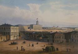 Жакотте Ж.(1806-?), Обрен (гравер сер. XIX века). Станция железной дороги