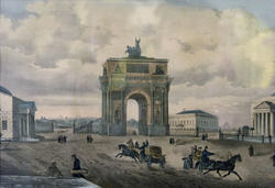 Струков Д.М. (1828-?). Вид Триумфальных ворот. 1865