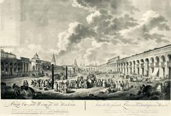 Гуттенберг Х.(1740-1818). Вид Старой (Красной) площади