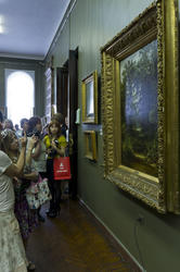 Презентация по поводу завершения реставрации 2-х картин Шишкина И.И.