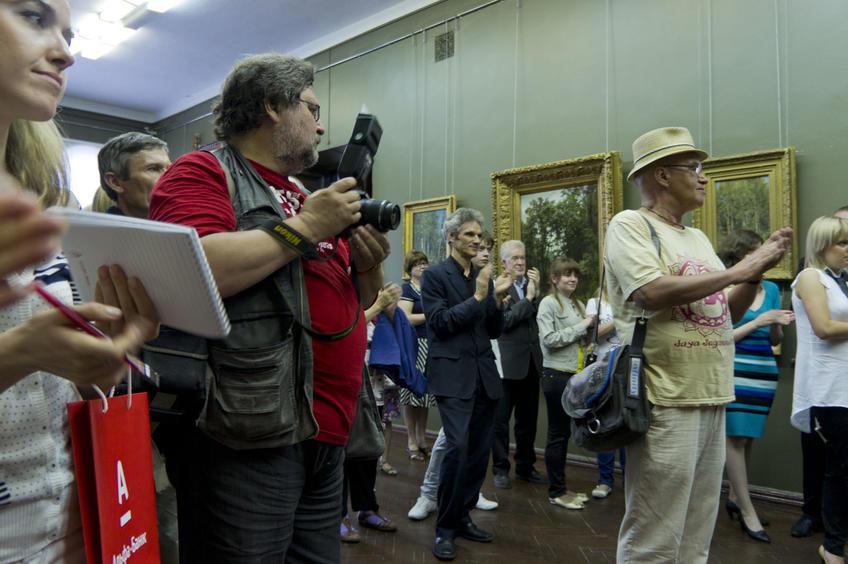 Фото №80123. Торжественная презентация по поводу возвращения 2-х отреставрированных картин Шишкина И.И.