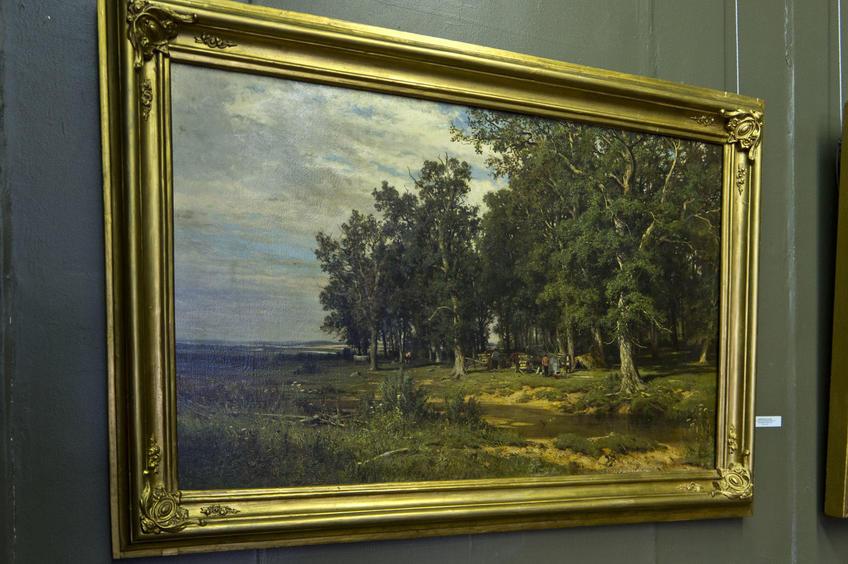 Фото №80178. На покосе в дубовой роще. 1874. Шишкин И.И. (1832-1898)