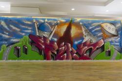 Граффити Никиты Open Fire Маркина