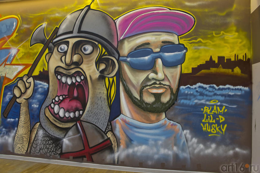 Граффити Амирхана Haski и Рустама QB1c Салемгараева::Граффити. Арт-акция «MANEGE Art MAUER» — 2011