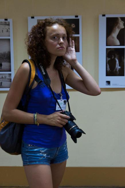 На выставке Молодые фотографы России — 2011