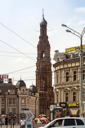 Колокольня Богоявленской церкви, Казань, ул. Баумана,  июнь 2015