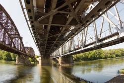 Ж/д мост через Р. Хопёр, Балашов, лето 2015