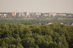Вид на г. Балашов с  противоположного берега Хопра, с. Репное