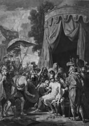 Смерть Эпаминонда, Лондон, 1774, гравюра В.Грина с картины Б. Бэста