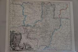 Карта Тамбовской губернии. Российский атлас А.Вильбрехта. 1800