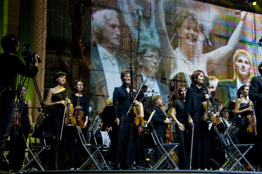 Скрипичный ансамбль оркестра