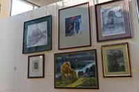 Фрагмент экспозиции Республиканской выставки живописи, графики, ДПИ