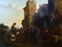ЯН МИЛЬ 1599 (?), Беверен-Вас близ Антверпена -1664, Турин Шарлатан Холст, масло