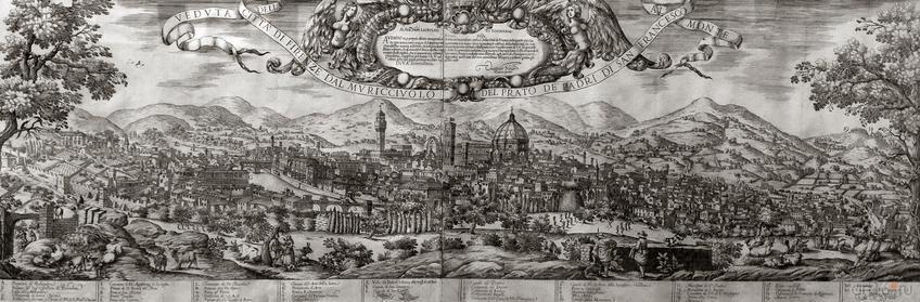 """ВАЛЕРИО СПАДА. Панорама Флоренции. Около 1650::""""Образы Италии"""" Западноевропейское искусство XVII-XX веков из собрания Эрмитажа"""
