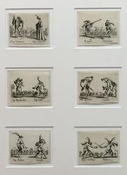 ЖАК КАЛЛО. Листы из серии «Танцы бескостных». 1621-1622