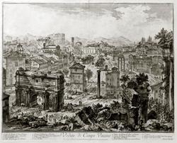 ДЖОВАННИ БАТТИСТА ПИРАНЕЗИ 1720. Вид Римскою форума