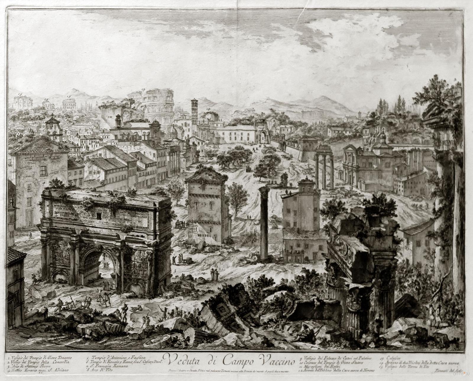 Фото №848420. ДЖОВАННИ БАТТИСТА ПИРАНЕЗИ 1720. Вид Римскою форума