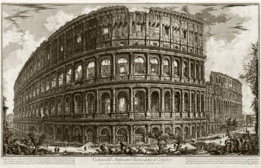 Фото №848438. ДЖОВАННИ БАТТИСТА ПИРАНЕЗИ 1720, Мольяно-Вснсто - 1778,  Рим. Вид Колизея