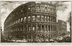 ДЖОВАННИ БАТТИСТА ПИРАНЕЗИ 1720, Мольяно-Вснсто - 1778,  Рим. Вид Колизея