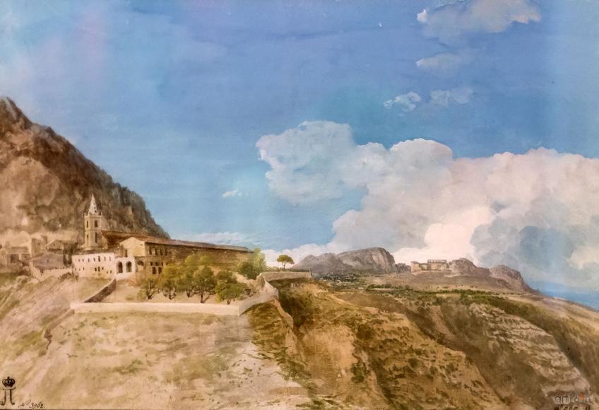 Фото №848450. ЖАН УЭЛЬ. Общий вил города Таормины и театра. 1776-1779