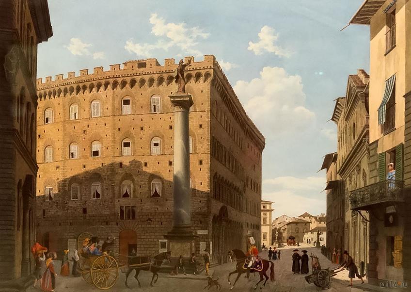 Фото №848480. ЛУИДЖИ ГАРИББО. Пьяцца Санта Тринита во Флоренции. 1829