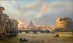 ИППОЛИТО КАФФИ 1809. Замок св. Ангела в Риме.