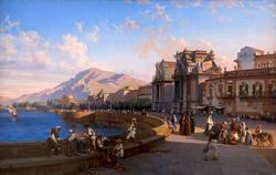 ТЕОДОРО ДЮКЛЕР 1815(1814?). Вид набережной в Палермо, Неаполь — 1869