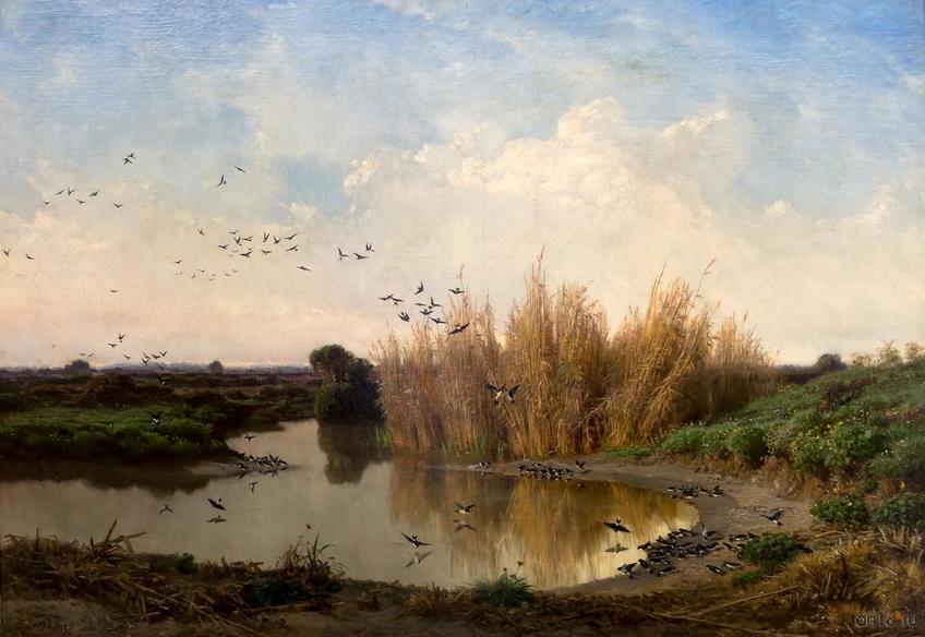 Фото №848558. ФИЛИППО ПАЛИЦЦИ. Пейзаж с ласточками. 1868
