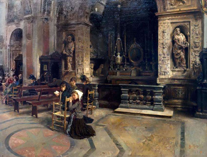 Фото №848570. АНСЕЛЬМО ДЖАНФАНТИ. В церкви Санта Мария делла Паче
