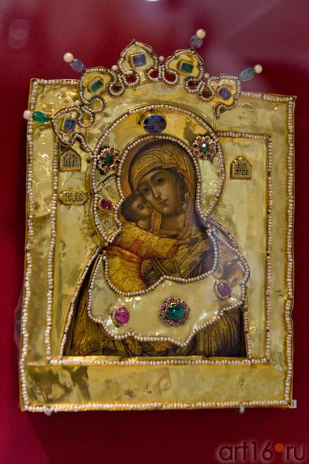 Икона Богоматерь Владимирская в окладе