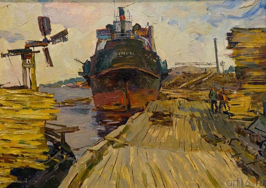 На Северной Двинек. 1974. . Батраев З.С., 1936
