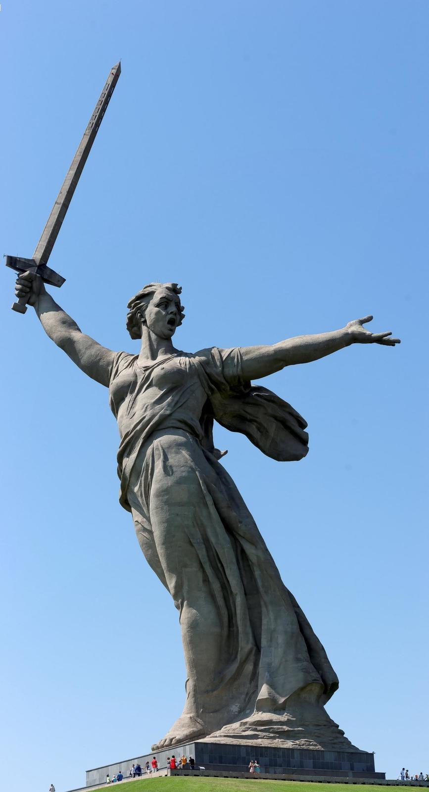 Фото №858253. Скульптура «Родина-мать зовет!»
