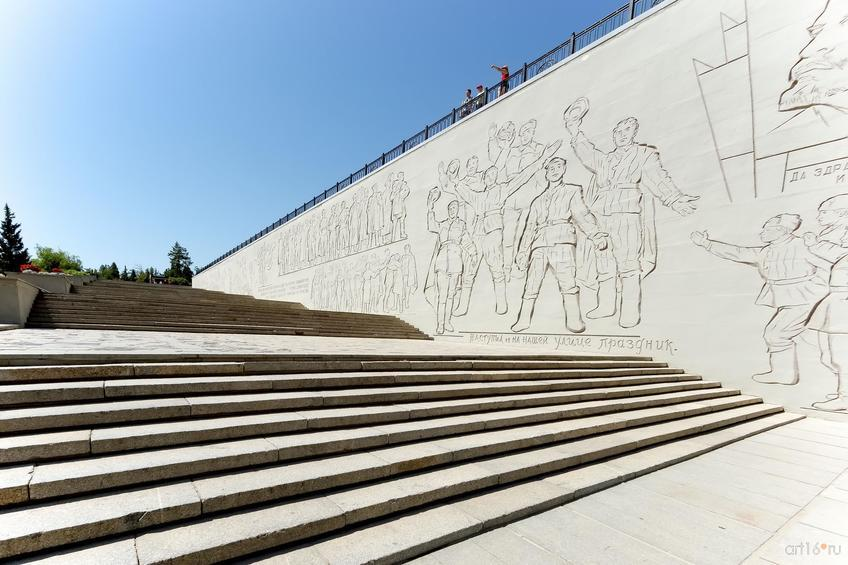 Фото №858379. Лестница, ведущая к скульптуре «Родина Мать зовет»