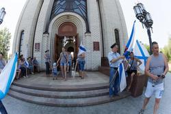 Служба в Церковь Всех Святых на Мамаевом Кургане. День ВДВ, 2 августа 2015