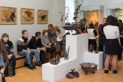 На открытии выставки «Территория декоративно-прикладного  искусства»