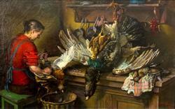 Натюрморт. Битая дичь. (После удачной охоты). 1952 . Яковлев Василий Николаевич (1894-1953)