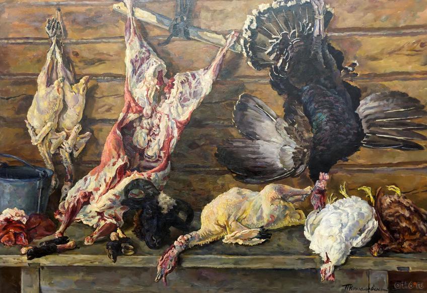 Фото №860921. Натюрморт. Мясо и птица. 1936. Кончаловский Петр Петрович. 1876-1956